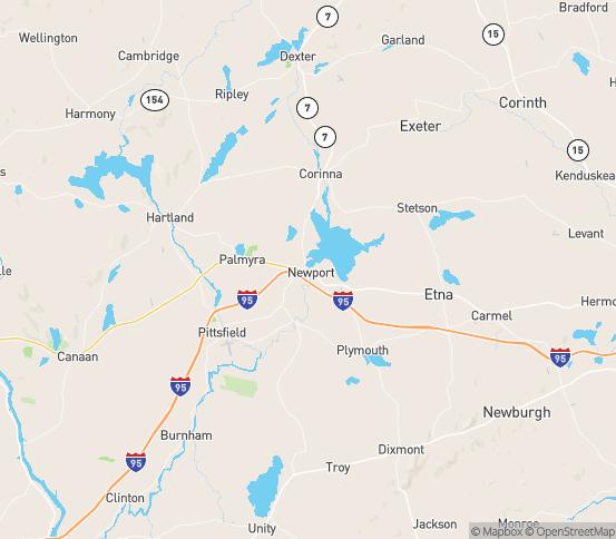 Map of Newport, ME