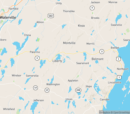 Map of Liberty, ME