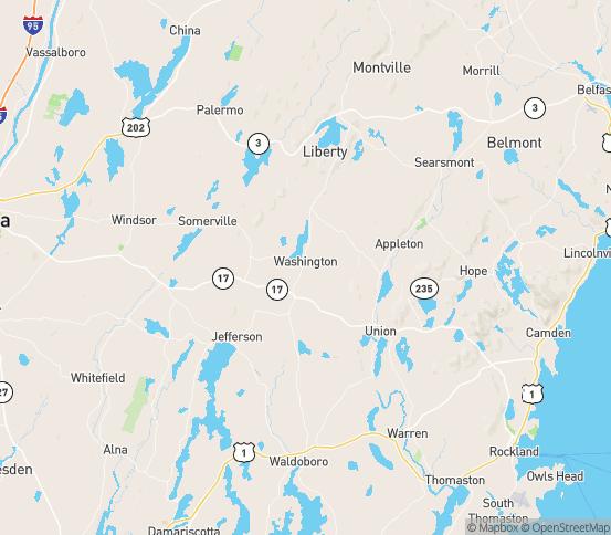 Map of Washington, ME