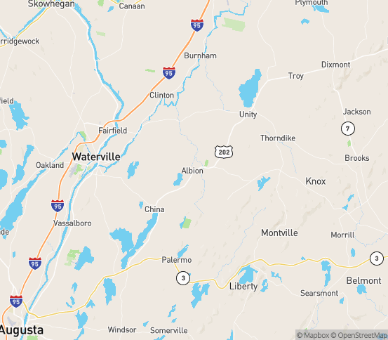 Map of Albion, ME