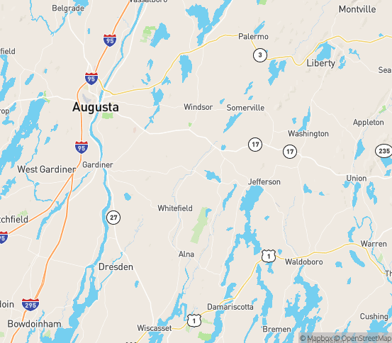 Map of Windsor, ME