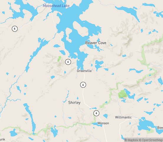Map of Monson, ME