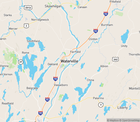Map of Waterville, ME