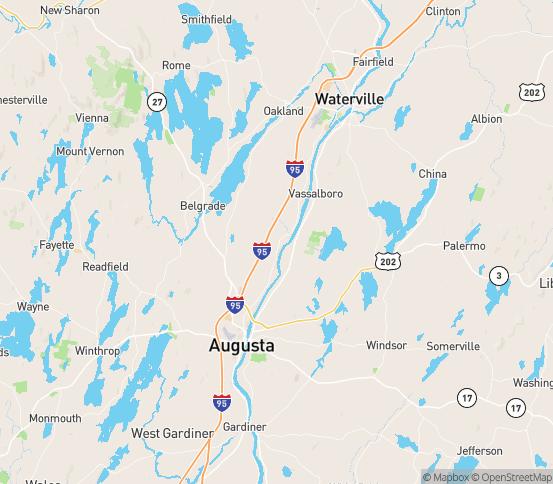 Map of Vassalboro, ME