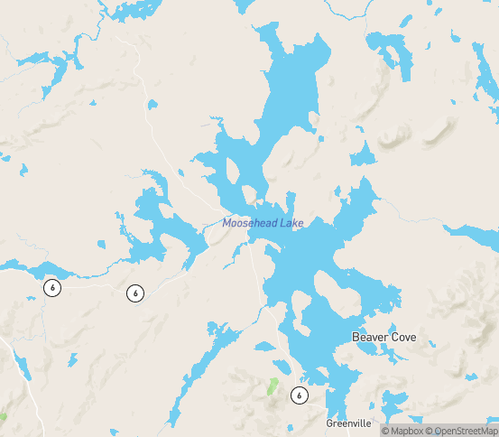 Map of Rockwood, ME