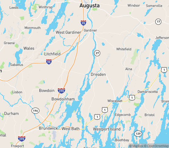 Map of Richmond, ME