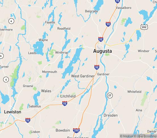 Map of Winthrop, ME