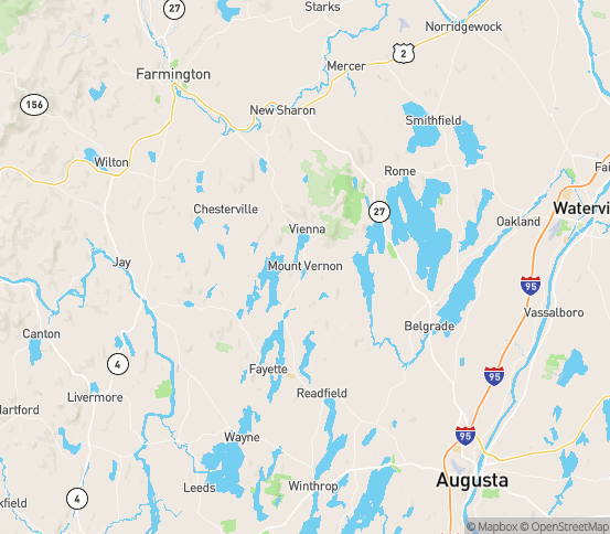 Map of Vienna, ME