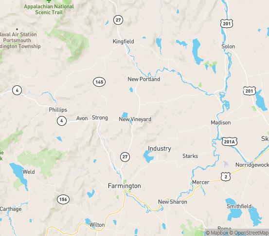 Map of New Vineyard, ME