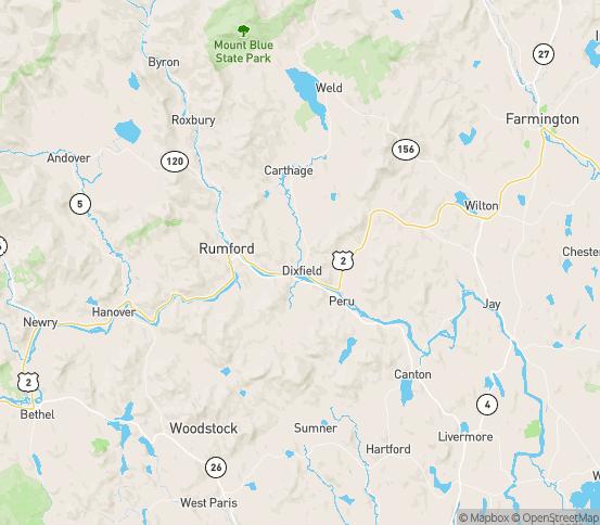 Map of Dixfield, ME