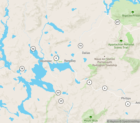 Map of Stratton, ME