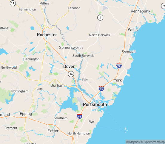 Map of Eliot, ME