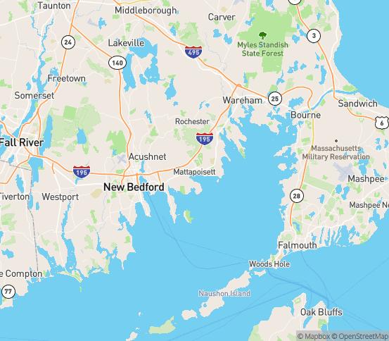 Map of Mattapoisett, MA