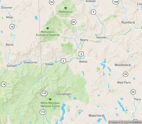 Map of Bethel, ME