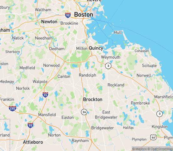 Map of Randolph, MA
