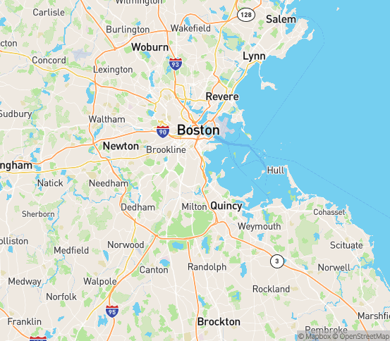Map of Boston, MA