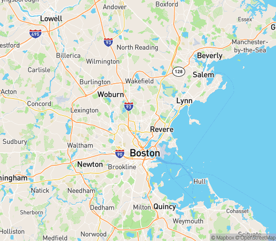 Map of Malden, MA