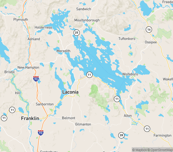 Map of Laconia, NH