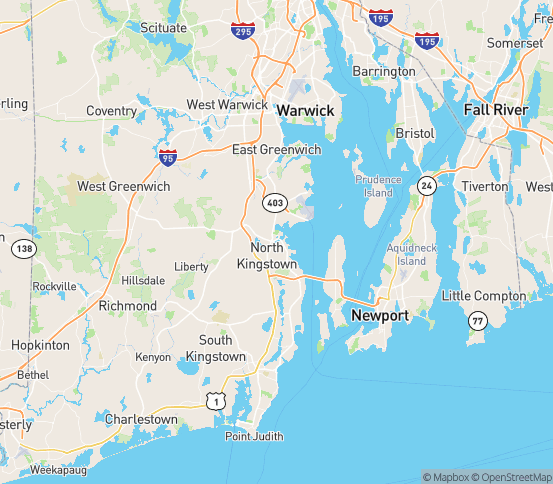 Map of North Kingstown, RI