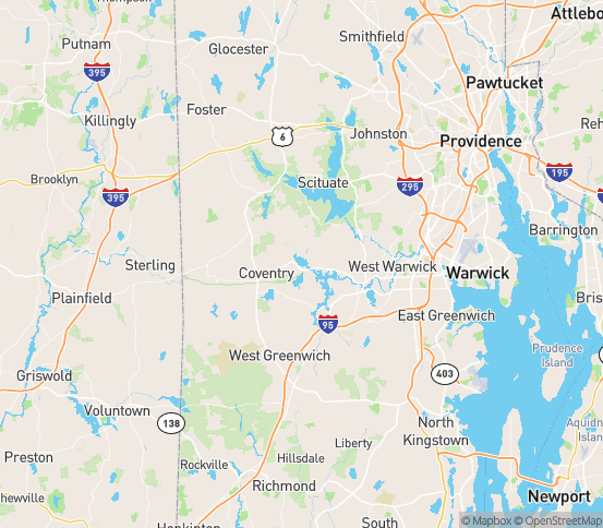 Map of Coventry, RI