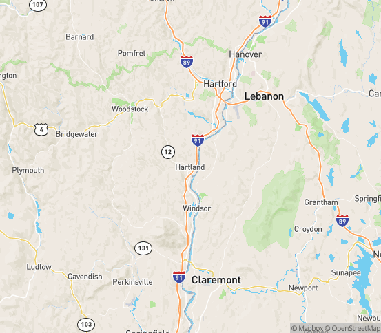 Map of Hartland, VT