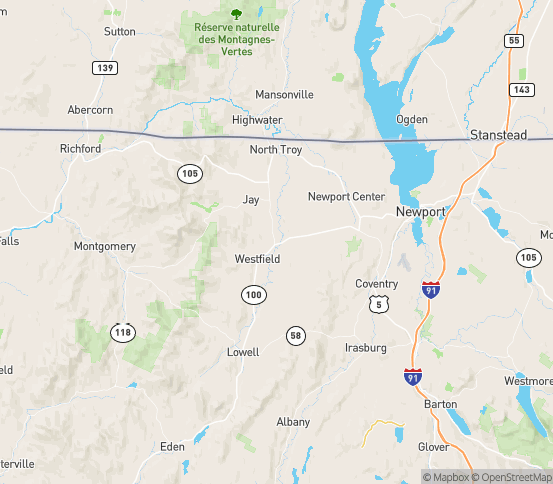 Map of Troy, VT