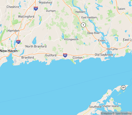 Map of Madison, CT