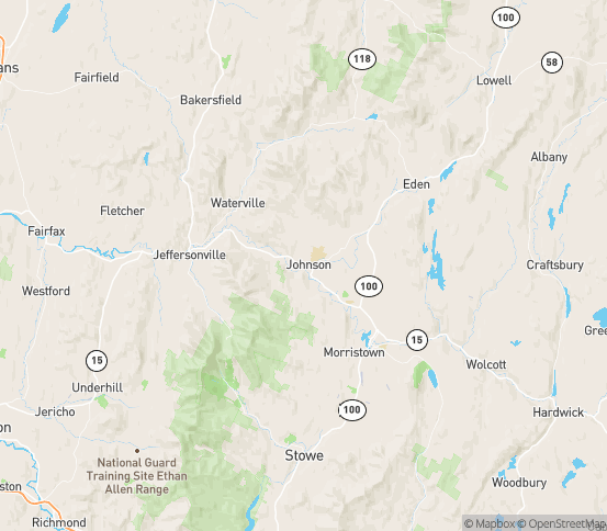 Map of Waterville, VT