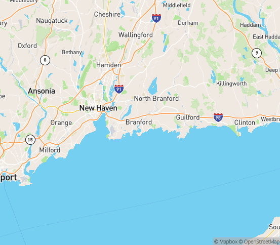 Map of Branford, CT