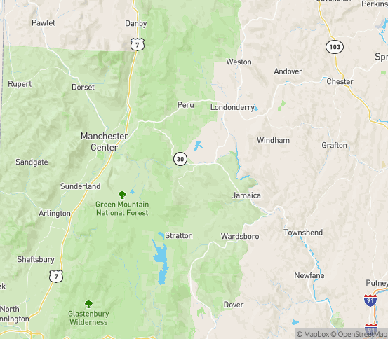 Map of S Londonderry, VT