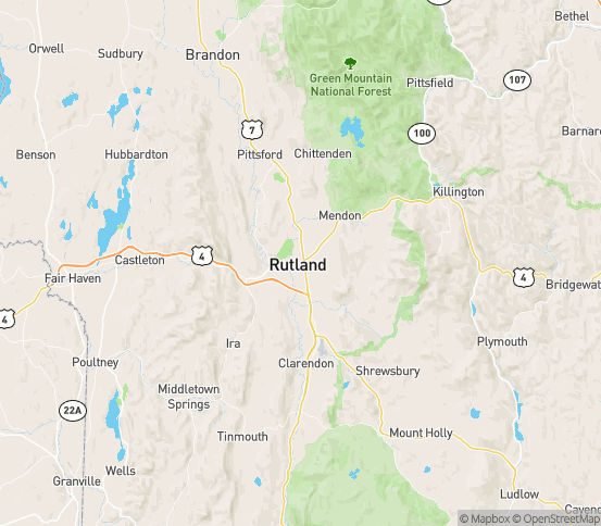 Map of Rutland, VT