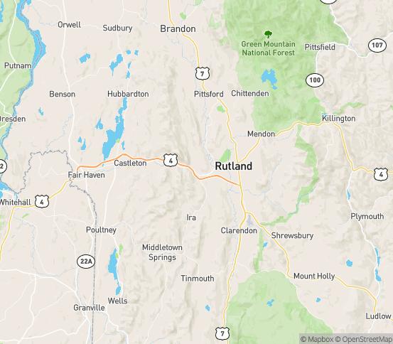 Map of Rutland, VT