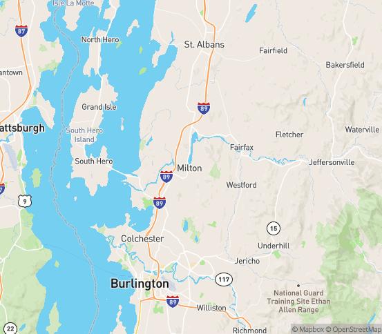 Map of Milton, VT