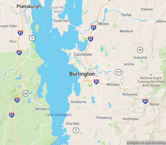 Map of Burlington, VT