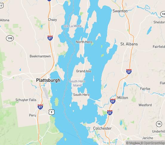 Map of Grand Isle, VT