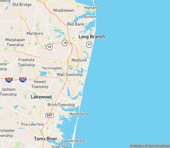 Map of Belmar, NJ