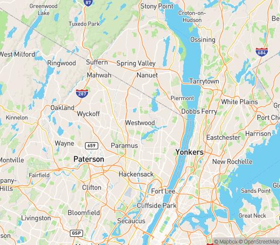 Map of Westwood, NJ