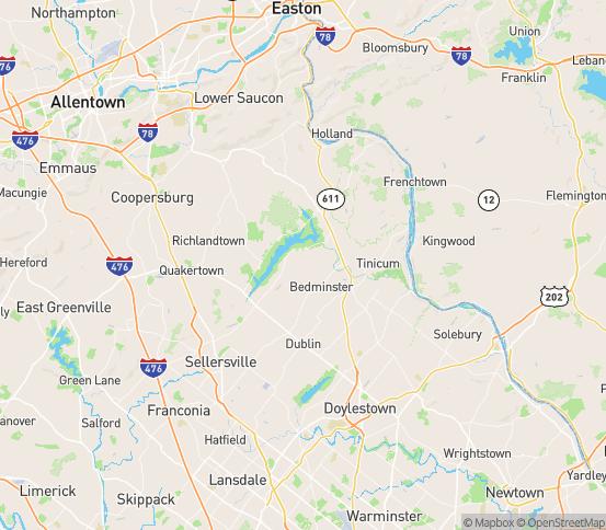 Map of Ottsville, PA
