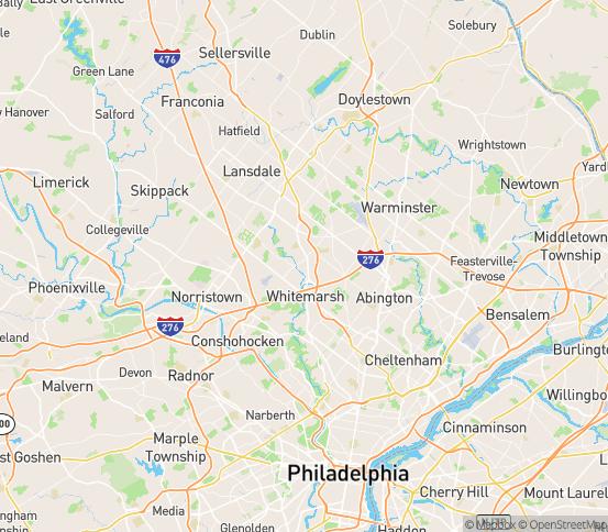 Map of Fort Washington, PA