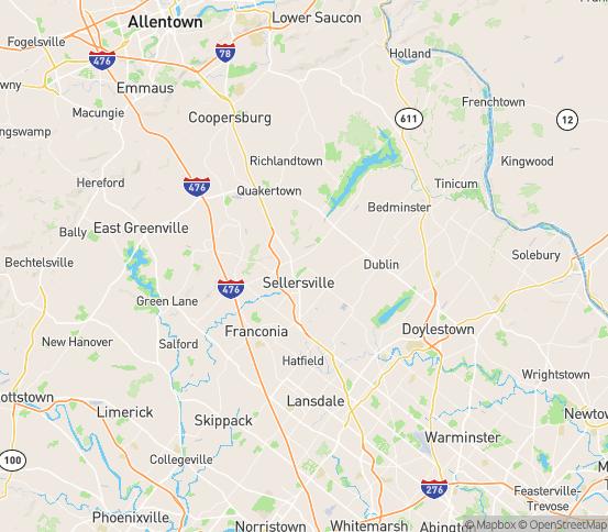 Map of Perkasie, PA