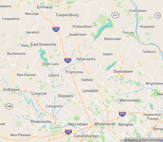 Map of Souderton, PA