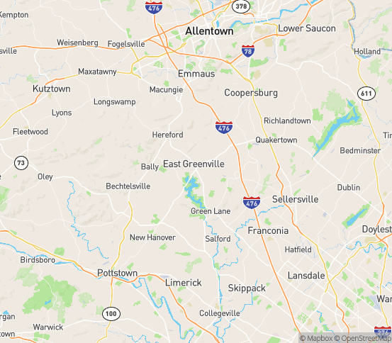 Map of Pennsburg, PA