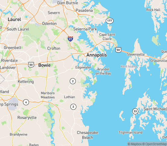 Map of Annapolis, MD