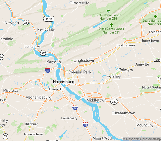 Map of Paxtonia, PA