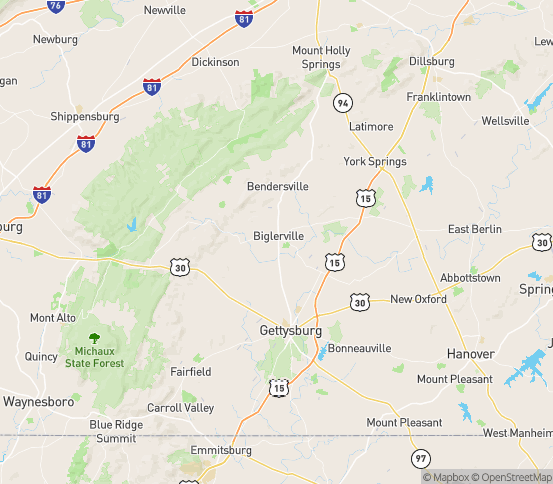 Map of Biglerville, PA