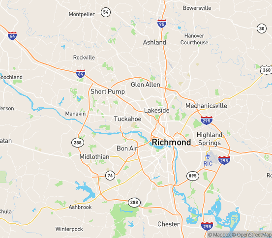 Map of Richmond, VA