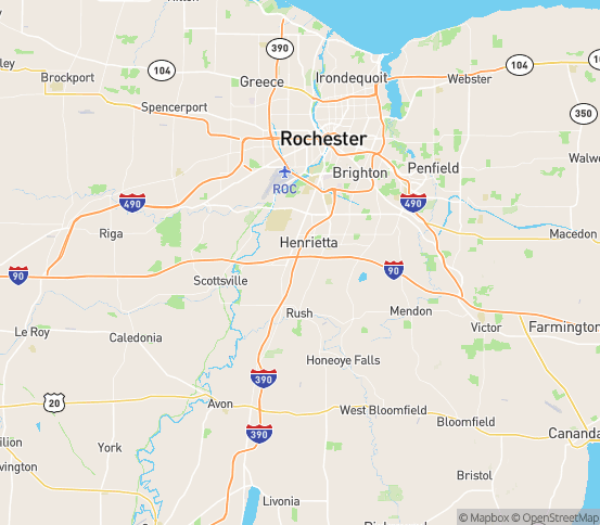 Map of Henrietta, NY