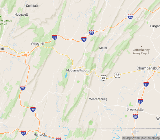 Map of Mc Connellsburg, PA