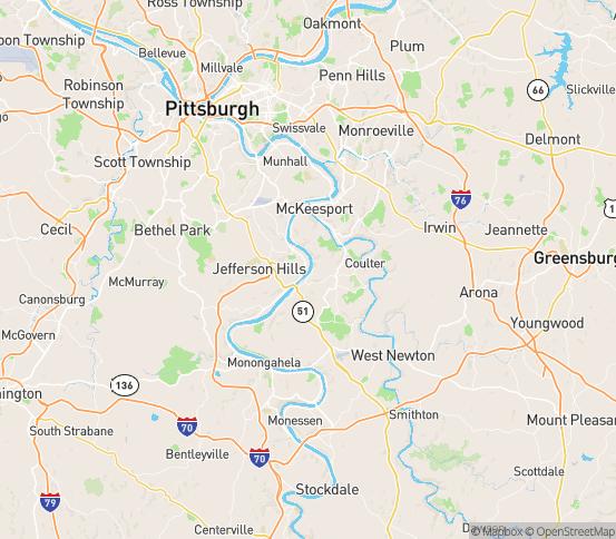 Map of Clairton, PA