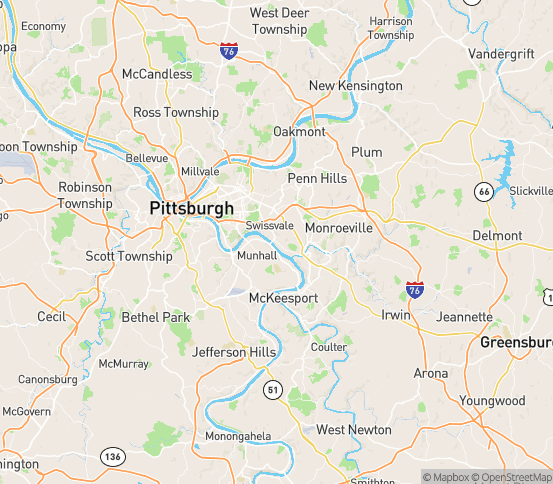 Map of Braddock, PA